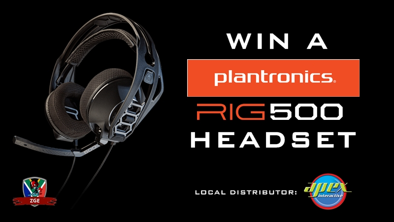 Win a Plantronics RIG 500 Headset